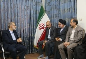 دیدار اعضای شورای اسلامی شهرقم با رئیس مجلس شورای اسلامی