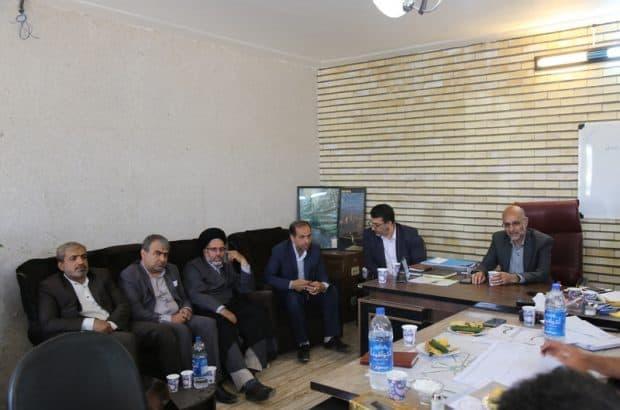 بازدید اعضای شورای اسلامی شهر از ورودی جعفریه به شهر مقدس قم
