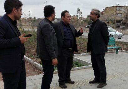 بازدید اعضای کمیسیون عمران و حمل و نقل از پروژه های اجرایی منطقه دو قم