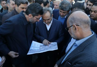 بازدید اعضای شورای اسلامی شهر مقدس قم به همراه استاندار و شهردار قم از پروژه پیاده راه ارم و انقلاب