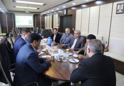 دیدار اعضای کمیسیون حمل و نقل شورای شهر قم با مدیر راه آهن قم