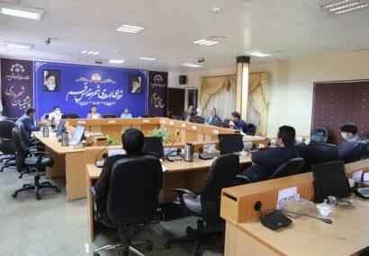 جلسه فوق العاده کمیسیون عمران و حمل و نقل شورای شهر قم و بررسی حادثه فرونشست زمین در میدان کشاورز