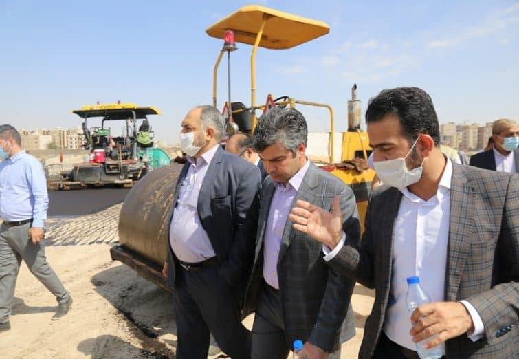 بازدید از پروژه های عمرانی شهردار قم-مرداد ۱۳۹۹