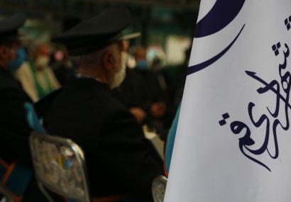 آیین عاشورایی سیاه پوشان در گلزار شهدای قم