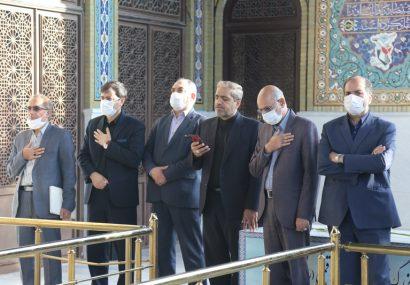 تجدید میثاق اعضای شورای اسلامی شهر قم با آرمان های شهداء دفاع مقدس