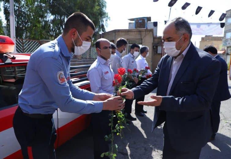 بازدید اعضای شورای اسلامی شهر قم از ایستگاه های آتش نشانی به مناسبت روز آتش نشان