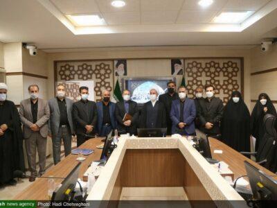 دیدار اعضای شورای اسلامی شهر مقدس قم با آیت الله اعرافی رئیس حوزه های علیمه